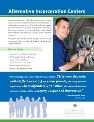 Alternative Incarceration Centers - Community Solutions Inc.