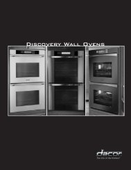 Discovery Wall Oven Cooking Guide - Dacor
