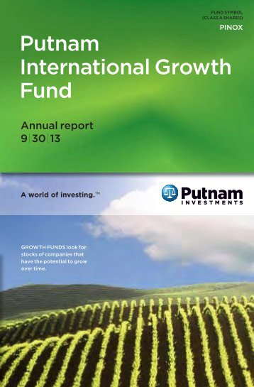International Growth Fund Annual Report - Putnam Investments