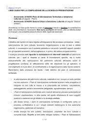 Linee guida - Centro Risorse Beni Culturali