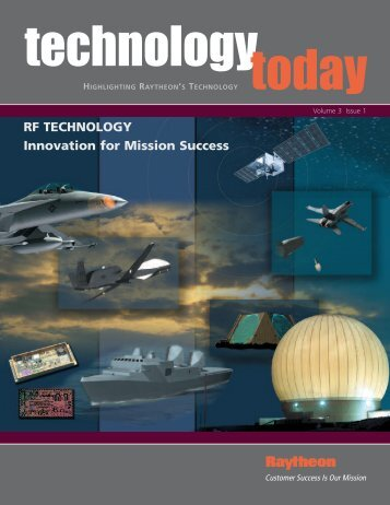 Technology Today Volumn 3 Issue 1 - Raytheon