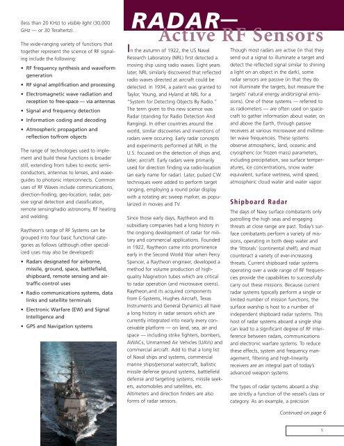 Technology Today Volumn 3 Issue 1 - Raytheon