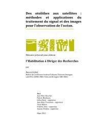 Des otolithes aux satellites : méthodes et applications du traitement ...