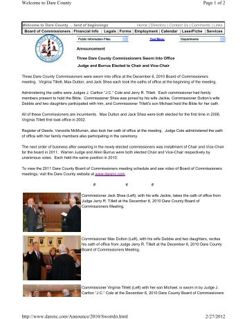 Page 1 of 2 Welcome to Dare County 2/27/2012 http://www.darenc ...