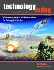 RAYTHEON BRINGS EO TECHNOLOGY To Defend Our Nation