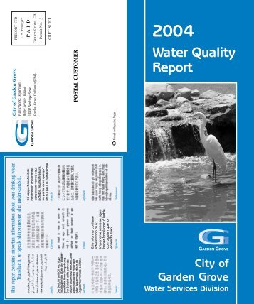 Water Quality Report - Garden Grove