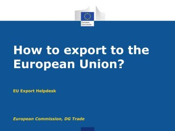 How to export to the European Union? - Trade Websites - Europa