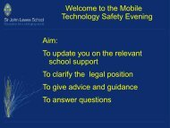 Mobile Technologies Safety Presentation