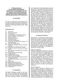 """Prüfungsordnung für den Master Studiengang """"Hörtechnik und ..."""