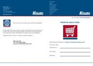 WebShop Quick Guide - Nissens