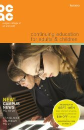 continuing education for adults & children - Oregon College of Art ...