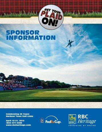 SPONSOR INFORMATION - RBC Heritage