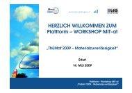 HERZLICH WILLKOMMEN ZUM Plattform – WORKSHOP MiT-at