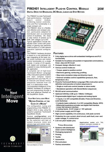 PIM2401 INTELLIGENT PLUG-IN CONTROL MODULE