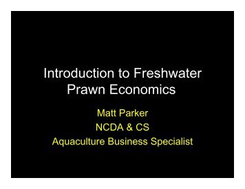 Introduction to Freshwater Prawn Economics - NCAquaculture.org