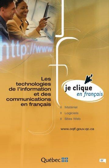 Les technologies de l'information et des communications en français