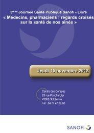 3ème Journée Santé Publique Sanofi - Loire - L'Union Régionale ...