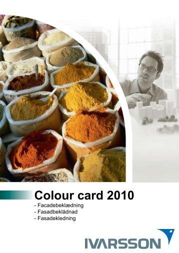 Colour card 2010 - Fasadekledning - Tepo