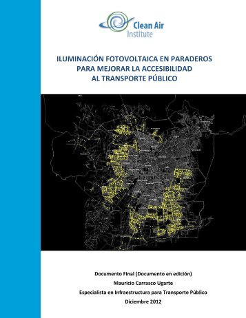 Iluminación fotovoltaica en paraderos para ... - Clean Air Institute