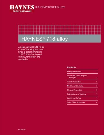 H-3055C 718 brochure.p65 - Haynes International, Inc.