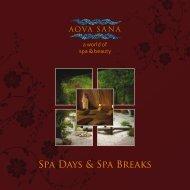 Spa Days & Spa Breaks - Center Parcs