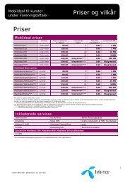Priser - Telenor