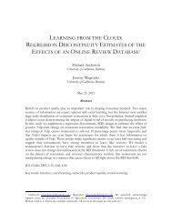 learning from the cloud: regression discontinuity estimates of the ...