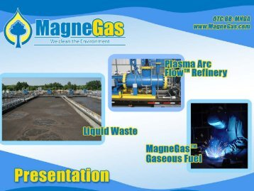 MagneGas – The Process - United Nations Sustainable Development