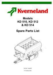 Spare Parts List - Hjallerup Maskinforretning A/S