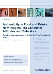 Authenticity in Food and Drinks: New Insights into ... - Datamonitor