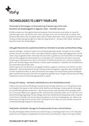 TECHNOLOGIES TO LIBIFY YOUR LIFE - Libify Technologies GmbH