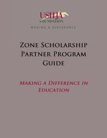 Zones scholarships and grants matching program - ushja