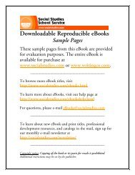 sample pages from the teacher's guide - Social Studies School Service