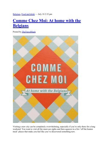 Comme Chez Moi: At home with the Belgians - Visit Gent