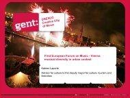 UNESCO Creative City of Music First European Forum on Music ...