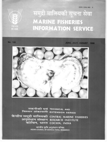 MARINE FISHERIES INFORMATION SERVICE - Eprints@CMFRI
