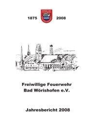 Jahresbericht 2008 - Feuerwehr Bad Wörishofen