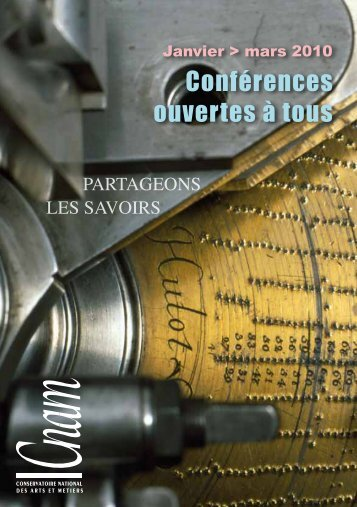 Conférences ouvertes à tous - Musée des arts et métiers