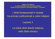 I diritti fondamentali in Israele tra principi costituzionali e valori ...