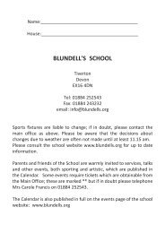 Calendar: Autumn Term 2013 - Blundell's School