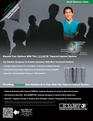 Providing Clinicians One Solution At A Time With The Tapered ...