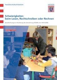 Handreichung zur VOLRR - Schule & Gesundheit - Hessen