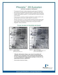 Phoretix™ 2D Evolution: 2D Gel Analysis Software - PerkinElmer