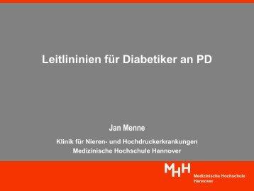 Leitlinien für Diabetiker an PD - Nierenzentrum-reinickendorf.de