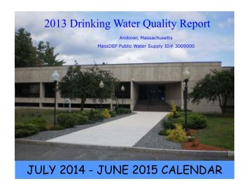Annual Drinking Water Quality Report - Town of Andover, MA