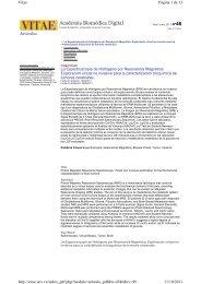 Artículos Página 1 de 13 Vitae 11/10/2011 http://vitae.ucv.ve ...