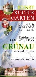 Flyer - Kunst Kultur und Garten auf Schloss Grünau