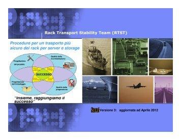 Procedure per un trasporto più sicuro dei rack per server e storage ...