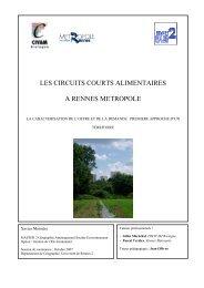 les circuits courts alimentaires a rennes metropole - CIVAM Bretagne