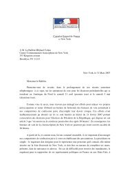 Consulat General de France a New York A M. Le ... - Hassidout